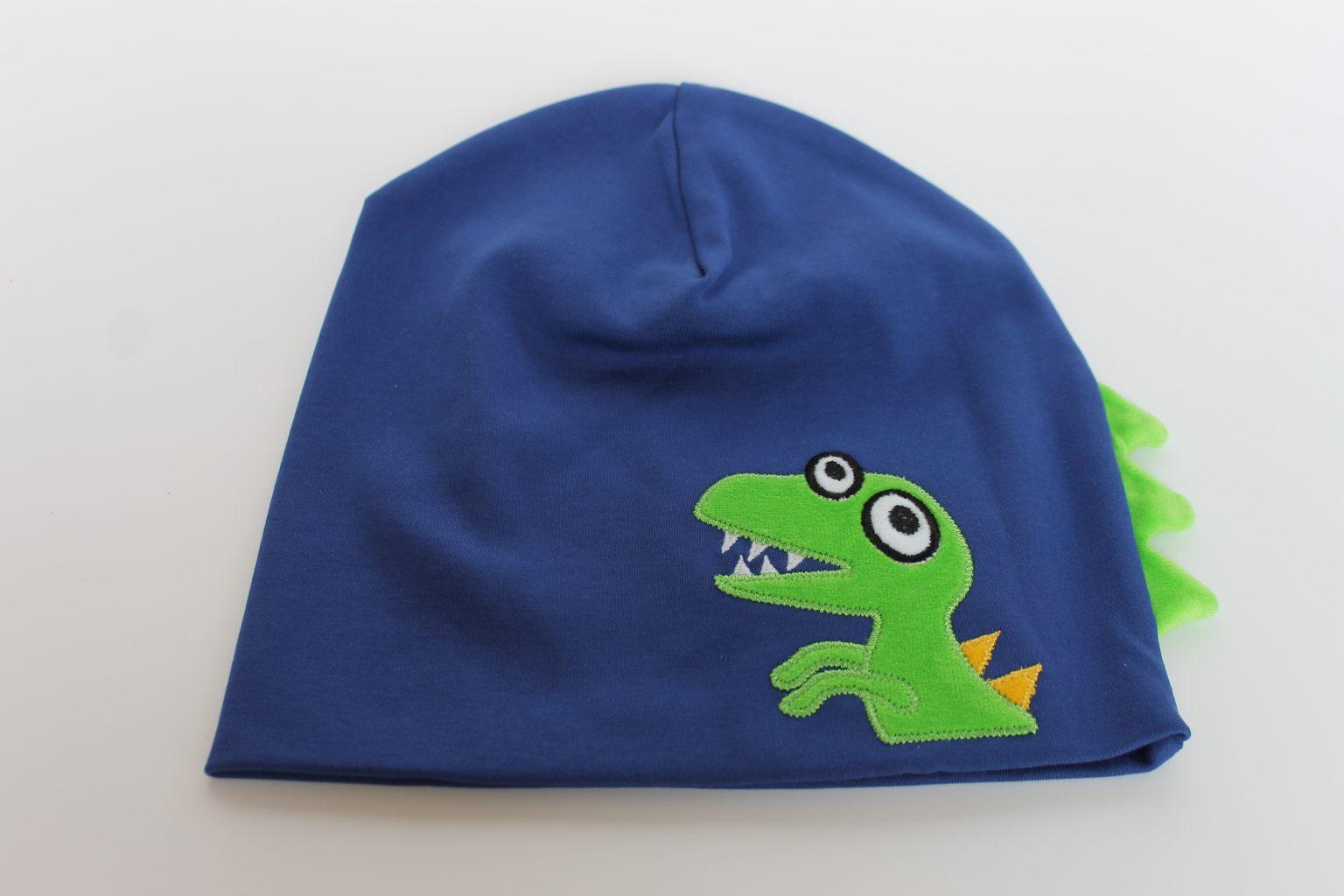 Dino-Mütze in Größe