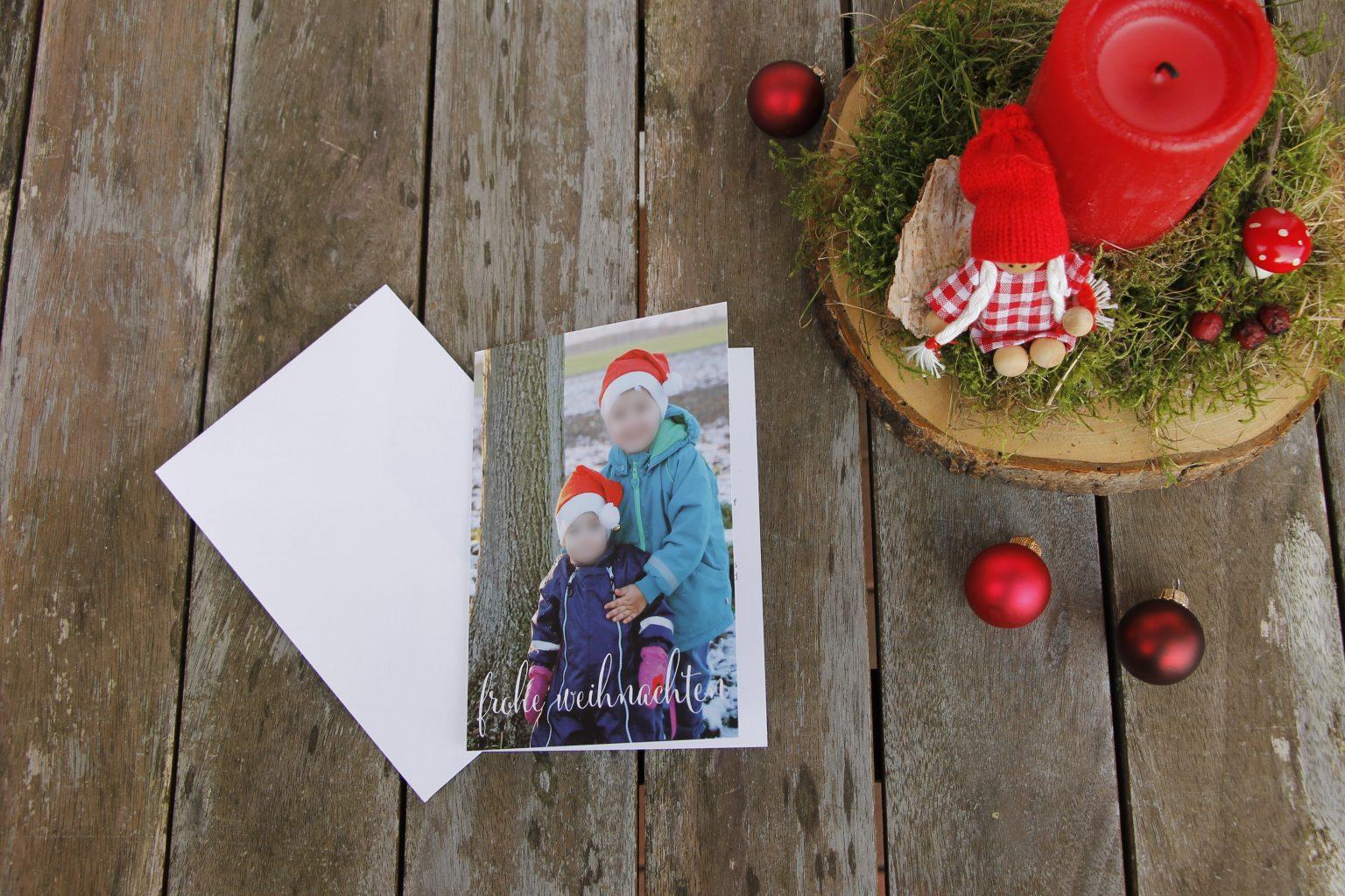 sendmoments Weihnachtsgrußkarte