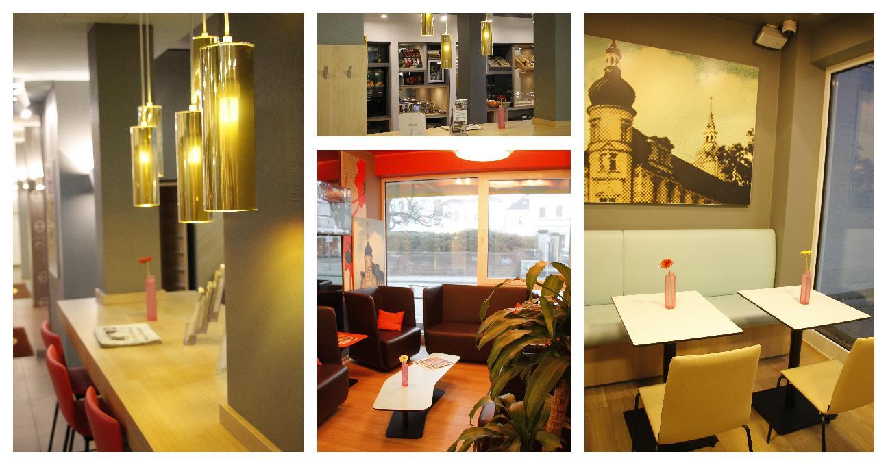 B&B Hotel Oldenburg Frühstücksraum und Foyer