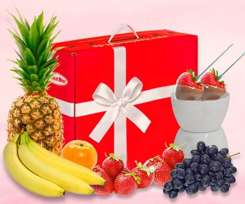 Sweet Kiss Schokofondue-Box Hansen Obst
