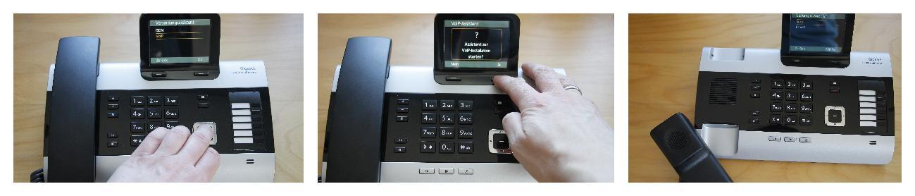 Gigaset DX 800 A VoIP Einrichtungsassistent