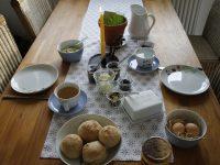 Osterfrühstück bei der Lavendelfamilie