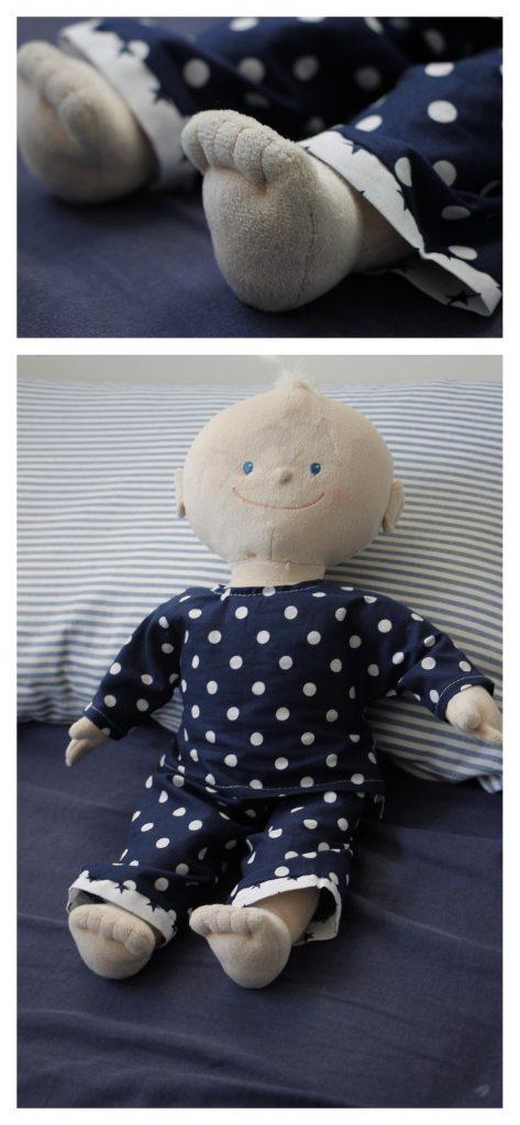 Sugaraplple Puppenschlafanzug