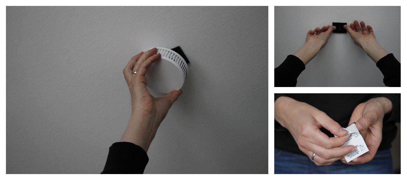 Rauchmeldermontage