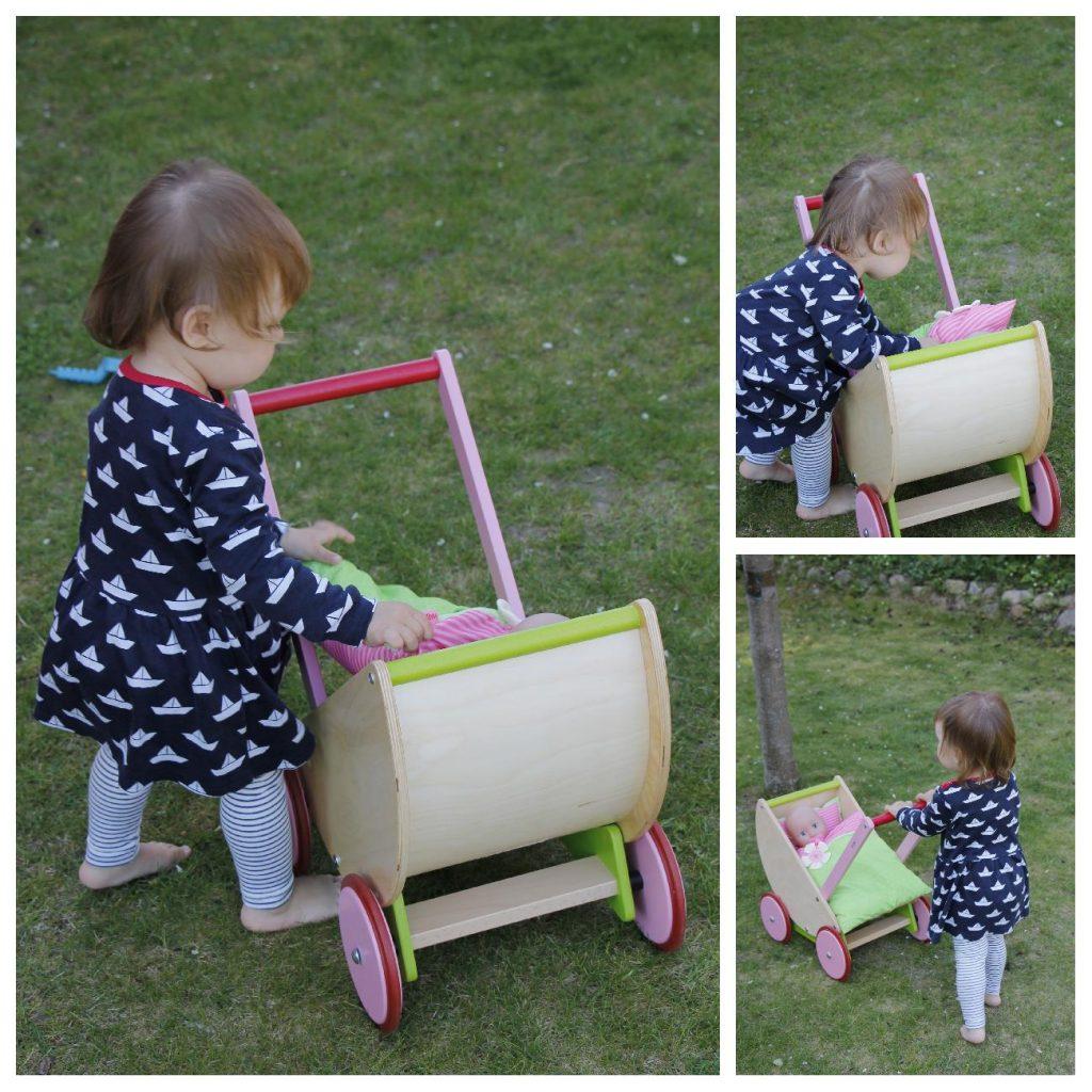 Haba Kirschblüte Puppenwagen