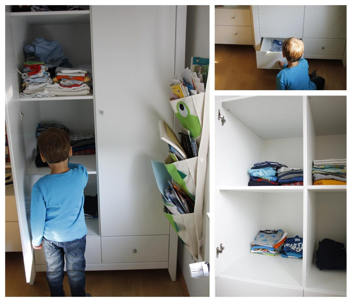 ein hoppekids kleiderschrank im neuen kinderzimmer. Black Bedroom Furniture Sets. Home Design Ideas
