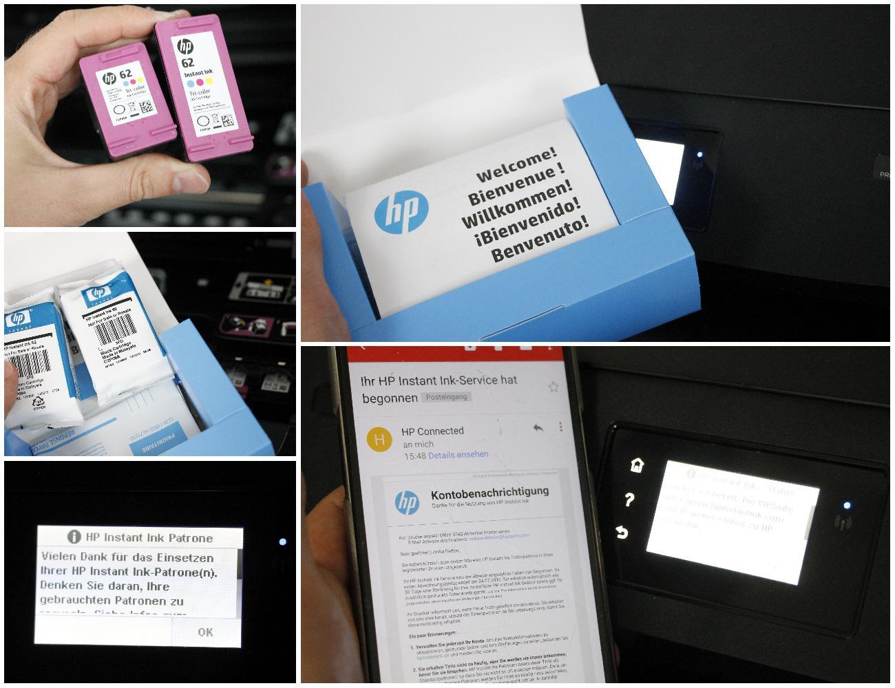 Instant Ink Welcome-Kit und neue Patronen