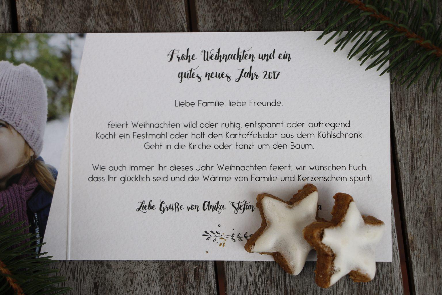 Idee Weihnachtskartentext