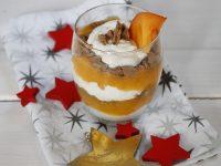 Ein weihnachtliches Dessert mit Persimon