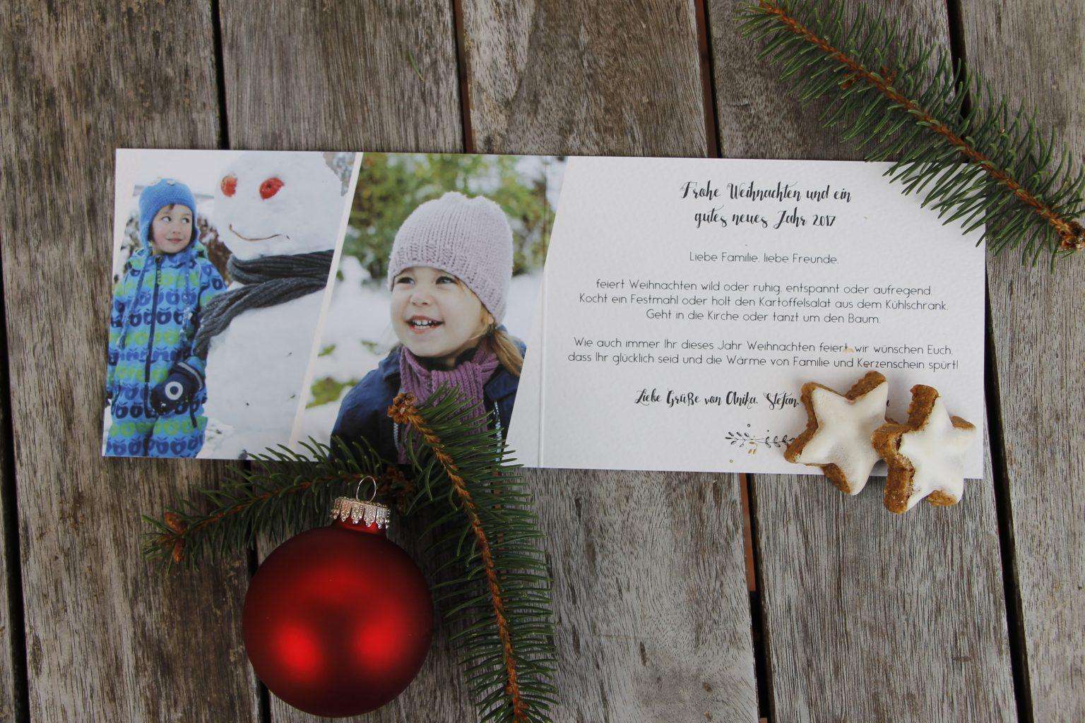 sendmoments Weihnachtskarte