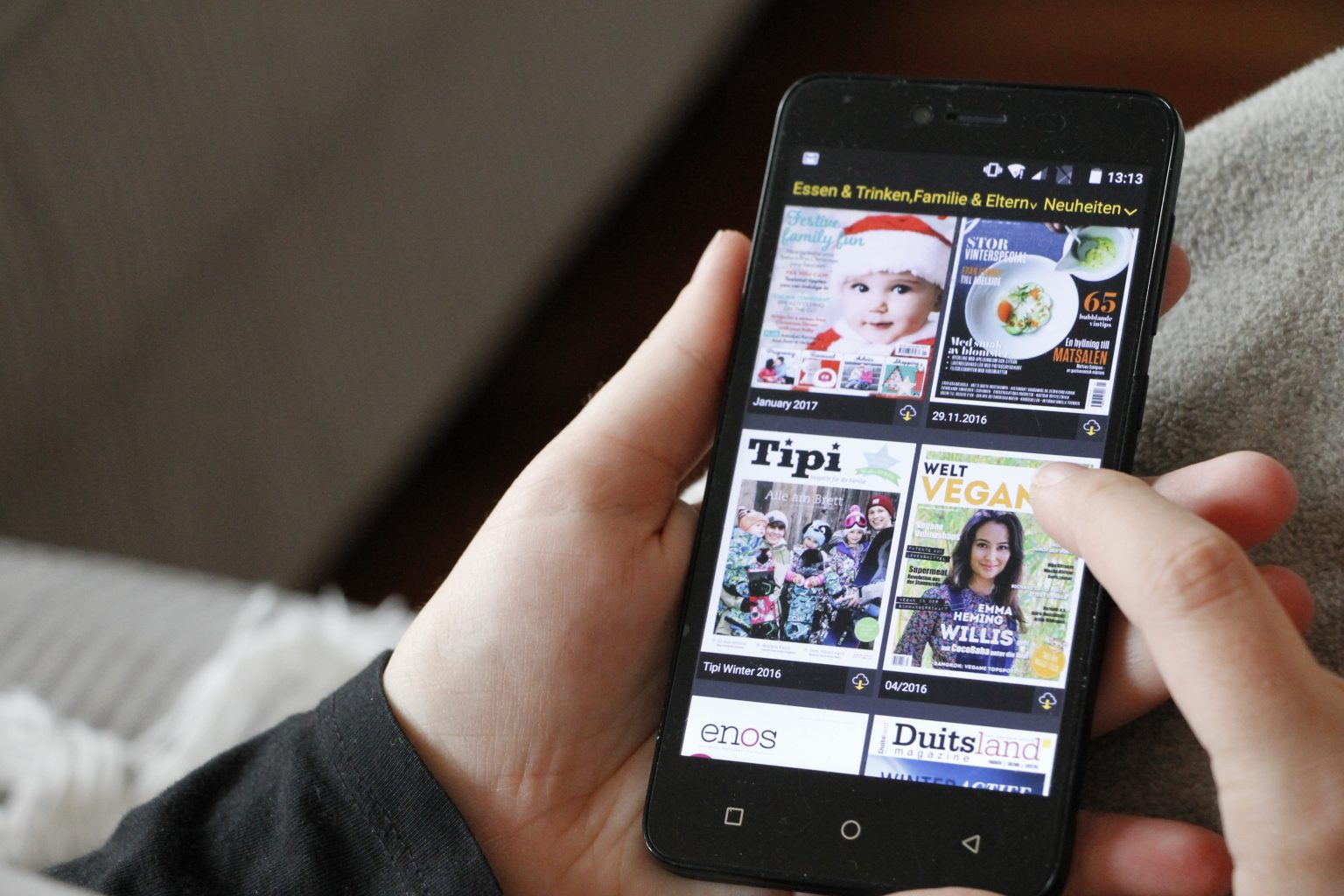 Readly Zeitschriften auf dem Handy lesen
