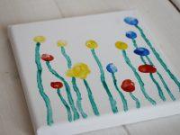 DIY-Idee: Eine Blumenwiese aus Fingerabdrücken