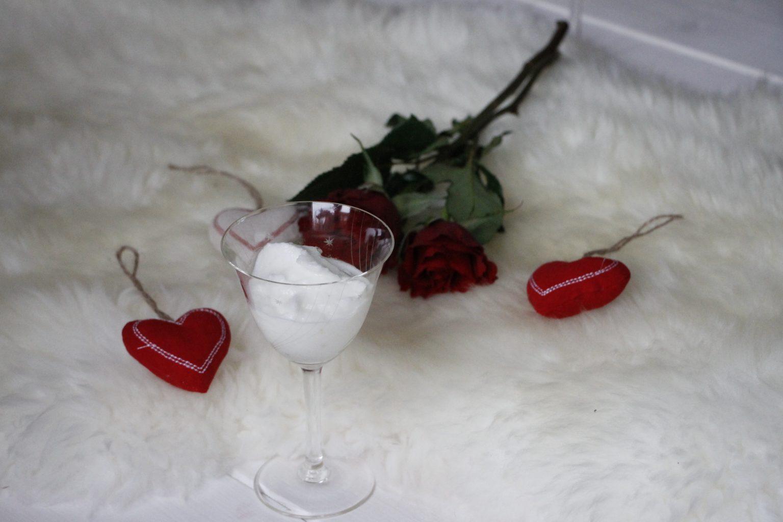 Zitronensorbet mit Rotkäppchen Sekt