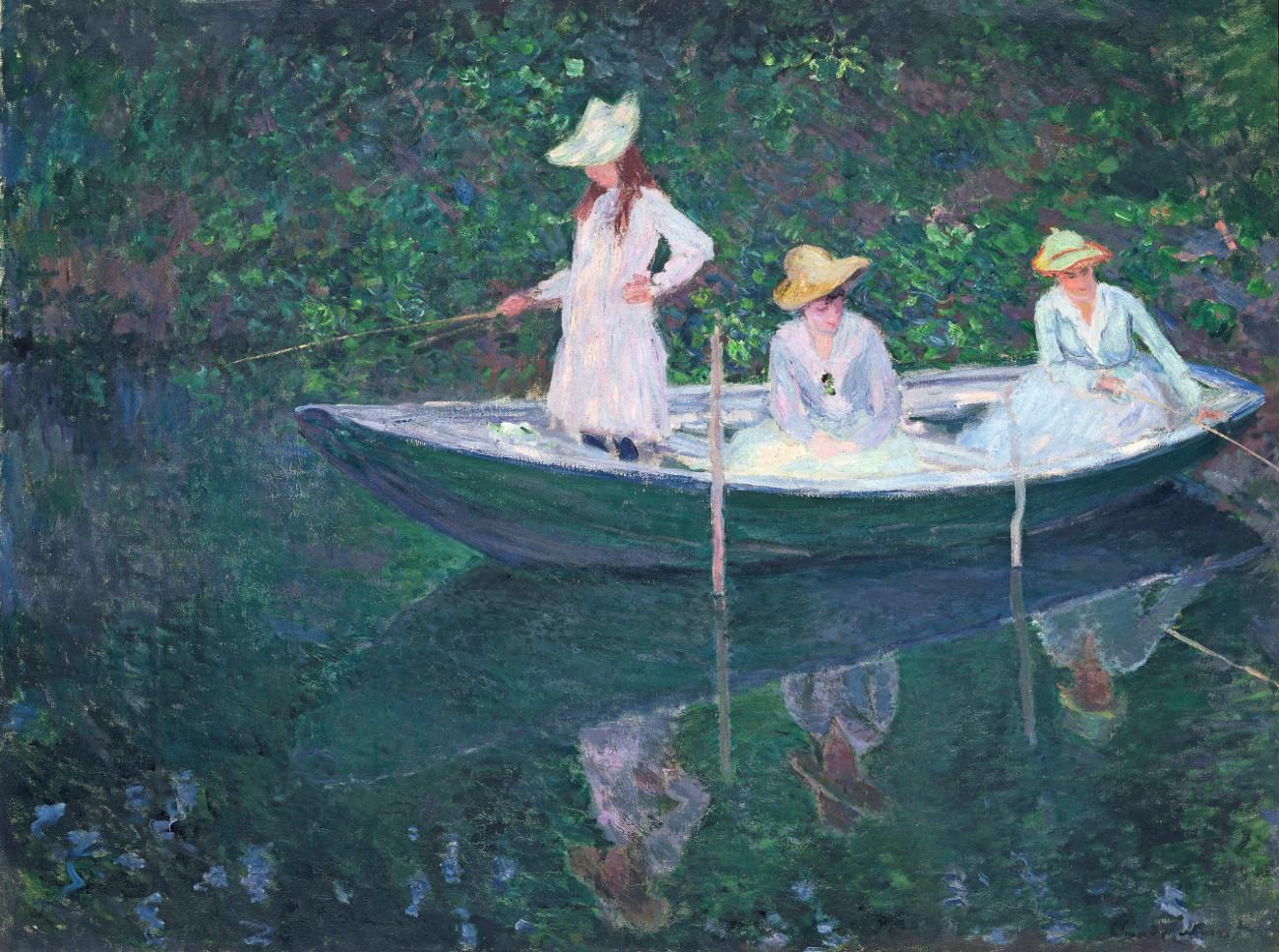 Monet - In der Barke, 1887 (c) RMN-Grand Palais (Musee dOrsay) Herve Lewandowski