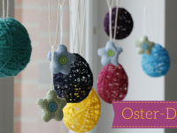 Oster-DIY-Idee: Ostereier aus Wolle