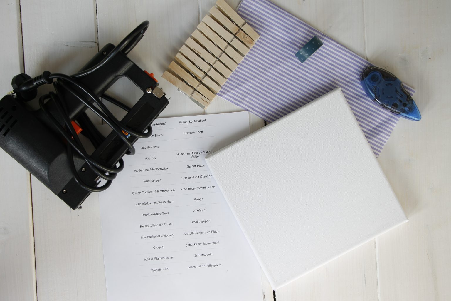 Essens-Wochenplan DIY
