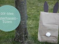 Oster-DIY: Osterhasen-Tüten als Geschenkverpackung