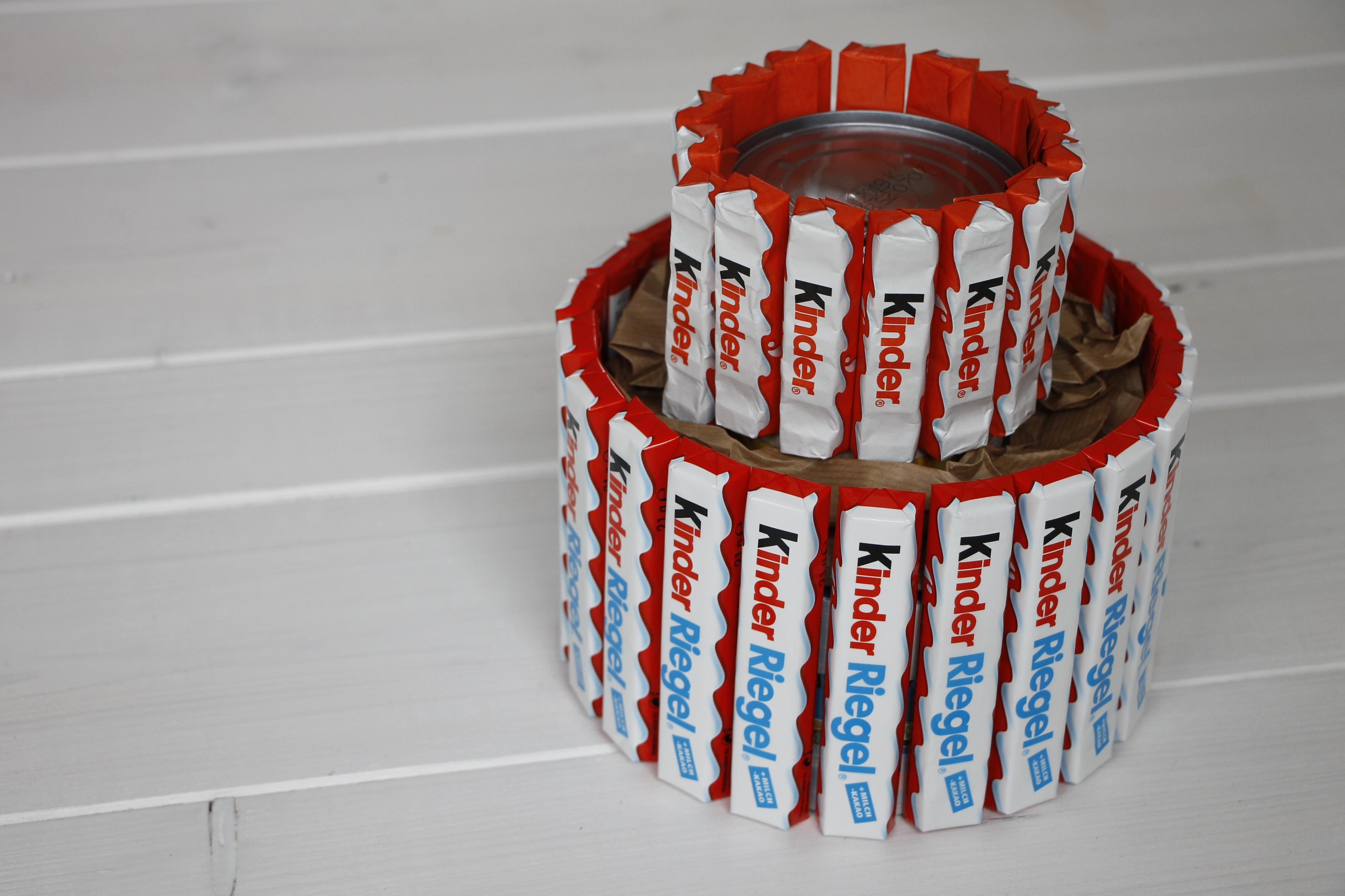 Kreatives geburtstagsgeschenk anleitung f r eine kinderriegel torte lavendelblog - Geschenke zum 18 geburtstag selber machen ...