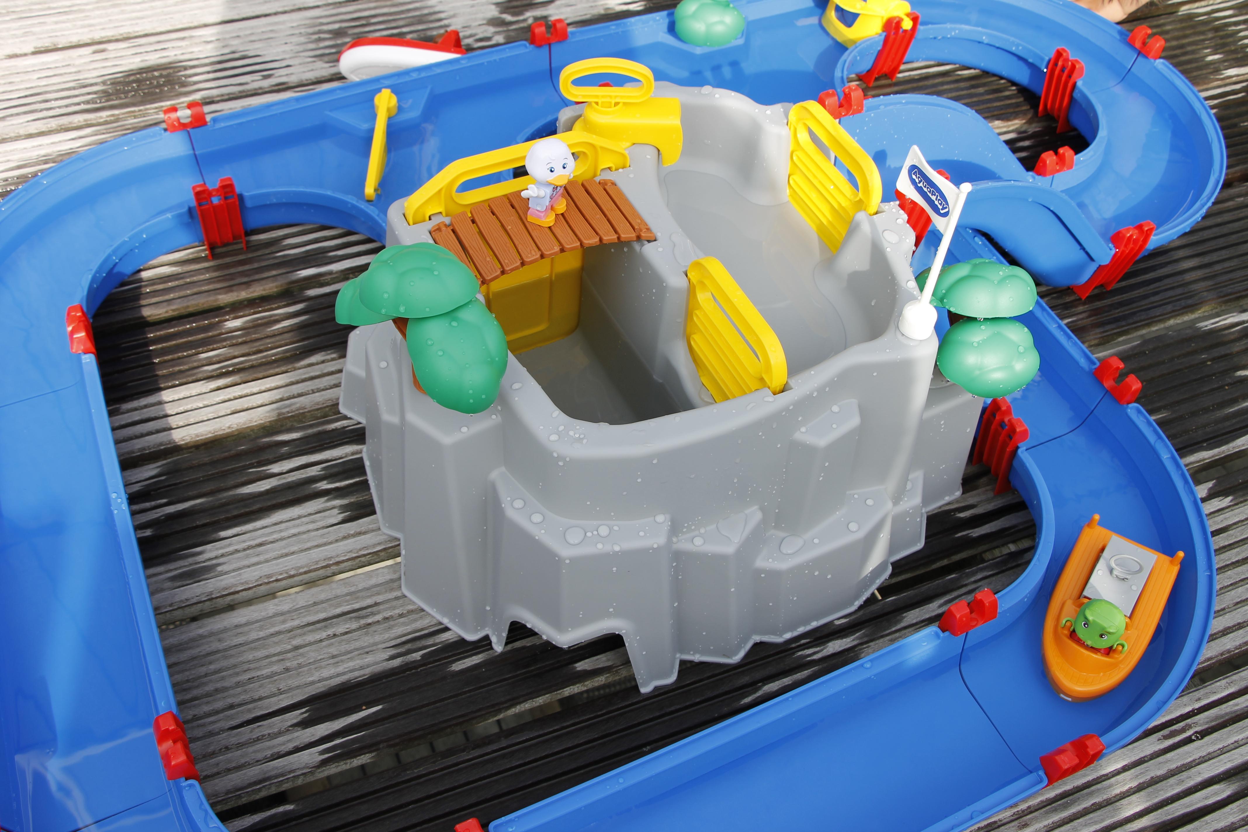 aquaplay wasserbahn wasserspielzeug f r den garten inkl. Black Bedroom Furniture Sets. Home Design Ideas