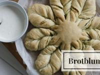 Grillrezept: Kräuterbutterblume mit Knoblauch-Dip