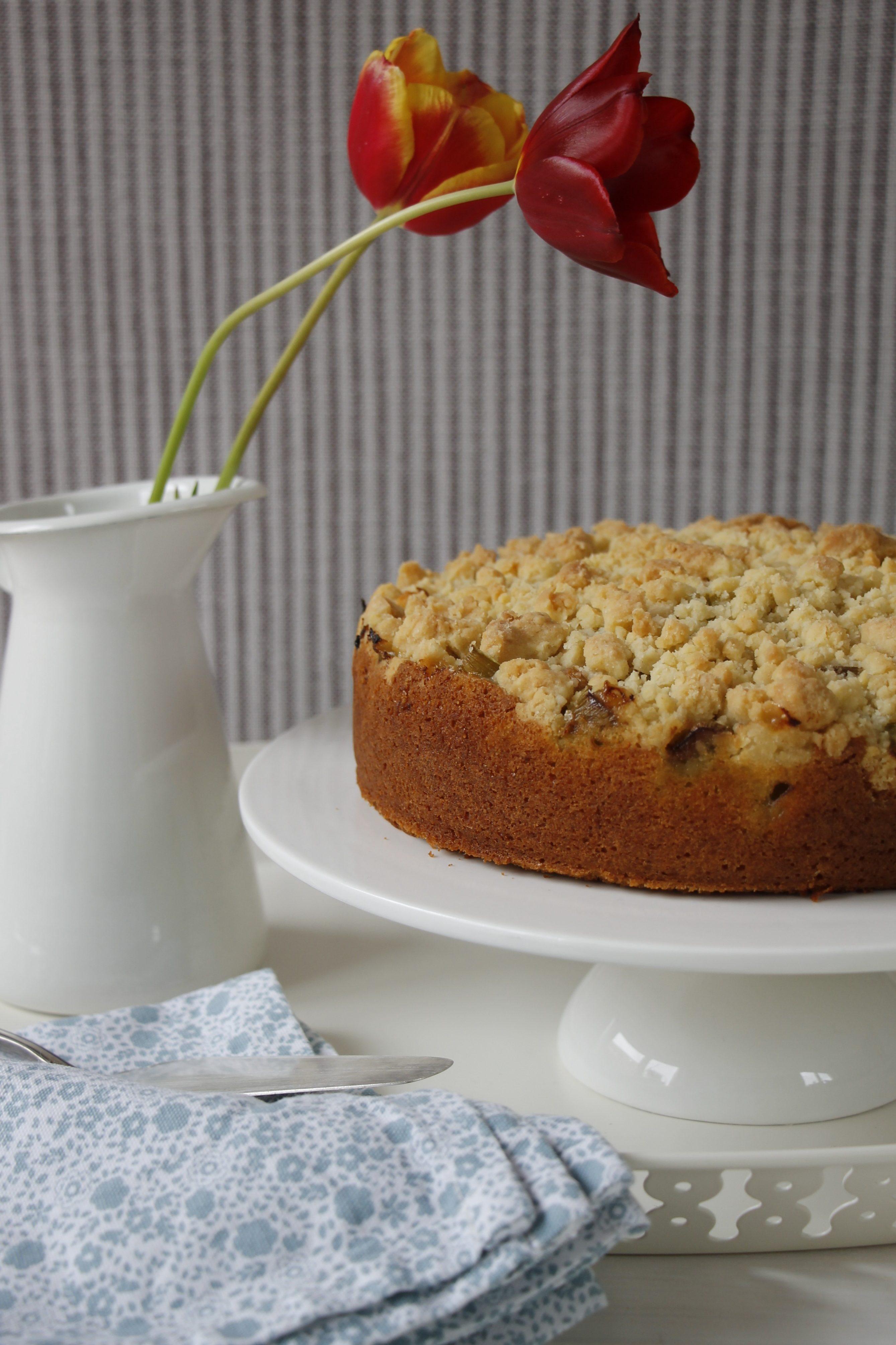 Rhabarberkuchen Mit Streuseln Hallo Rhabarberzeit Lavendelblog