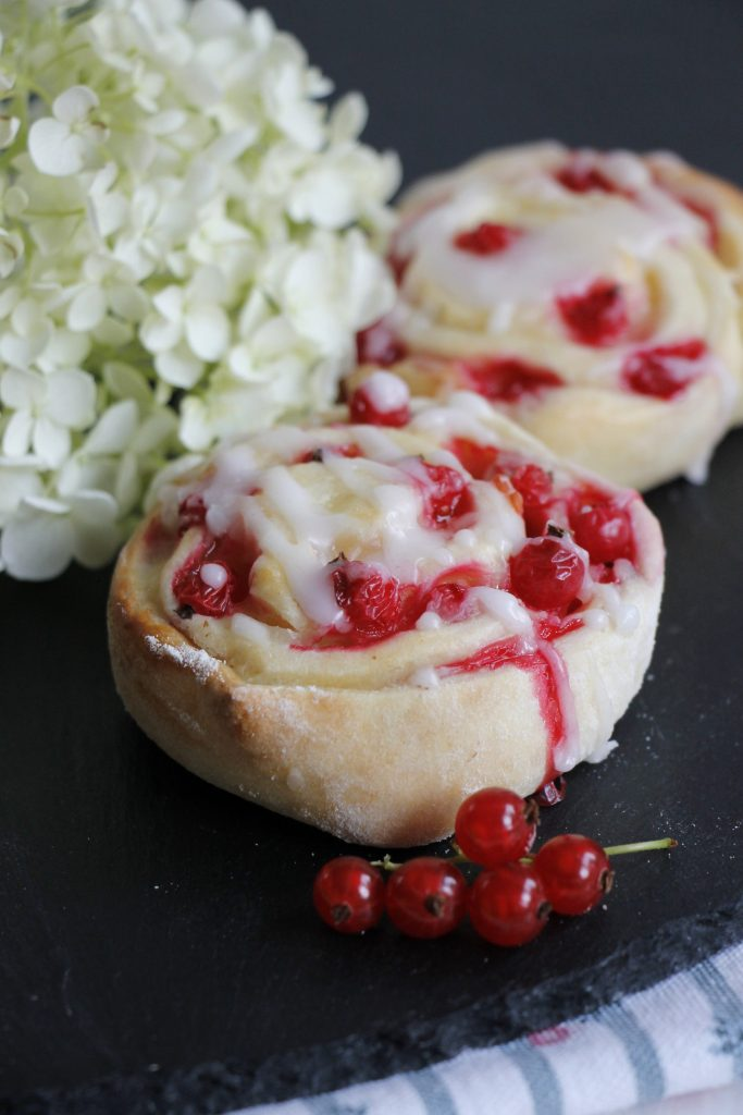 Rezept Johannisbeer Pudding Schnecken Lavendelblog