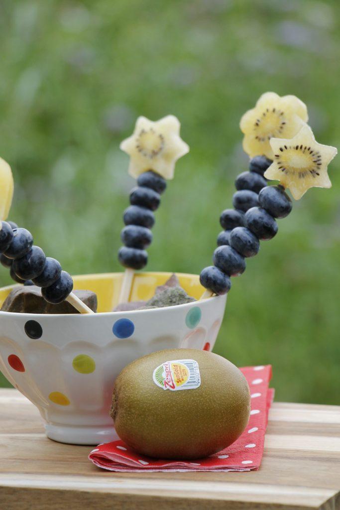Obstspieße Kindergeburtstag Zespri