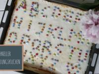 Einfacher Kuchen zur Einschulung: Buchstabenkuchen
