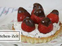 Rezept: Erdbeertörtchen mit Stracciatella-Creme