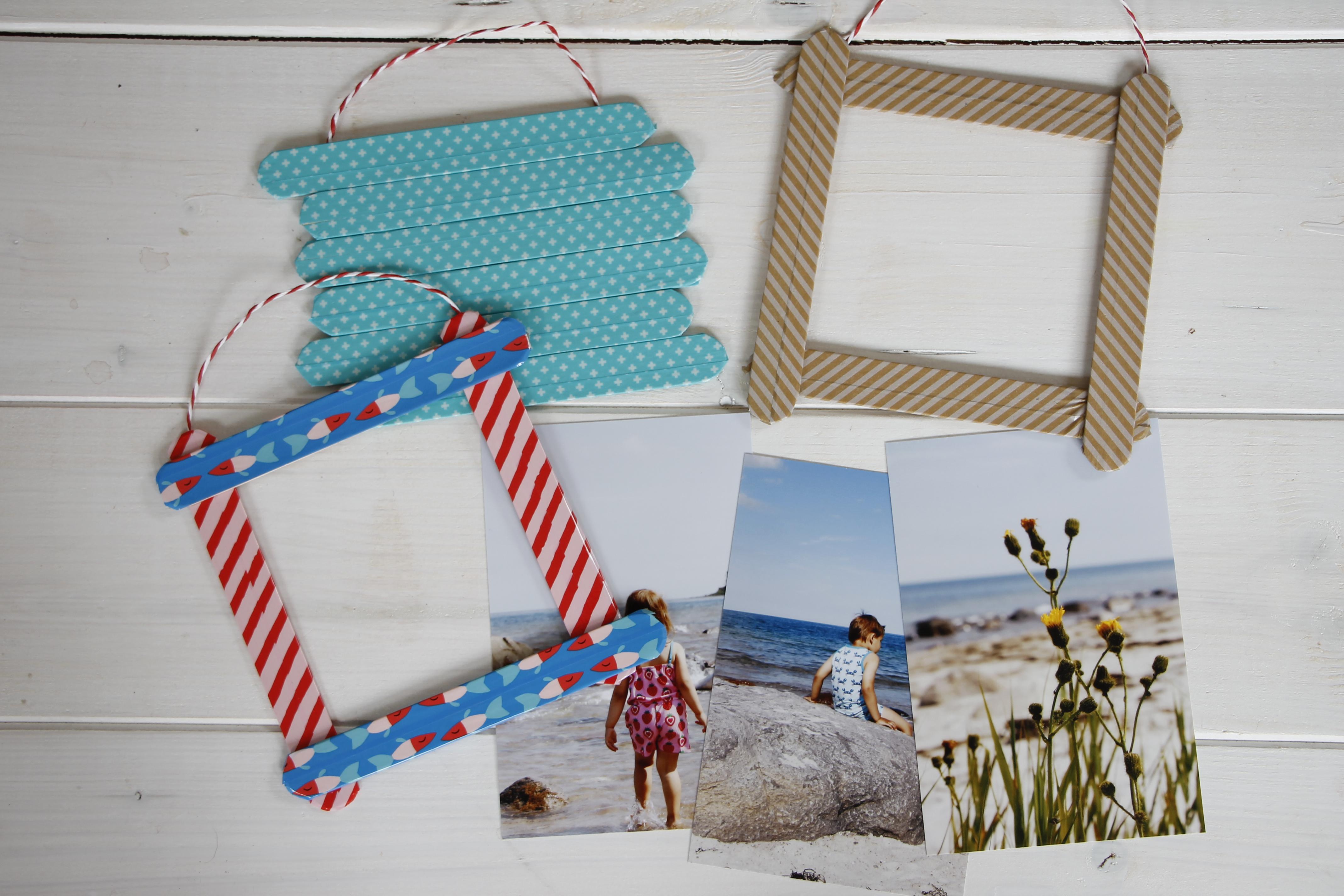 DIY Idee Kinder Bilderrahmen aus Eisstielen - Lavendelblog
