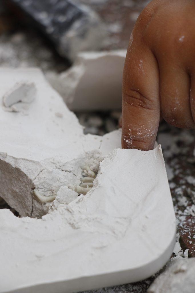 Fossilien ausgraben Kinder