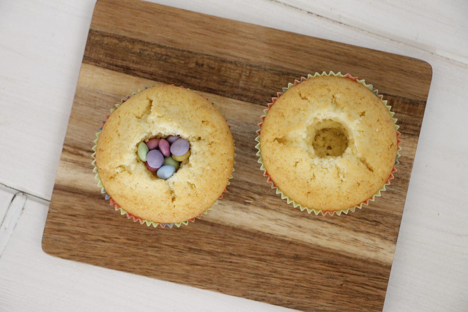 gefüllte Muffins mit Smarties