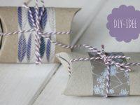 DIY: Kleine Geschenkverpackung aus Klopapierrolle basteln