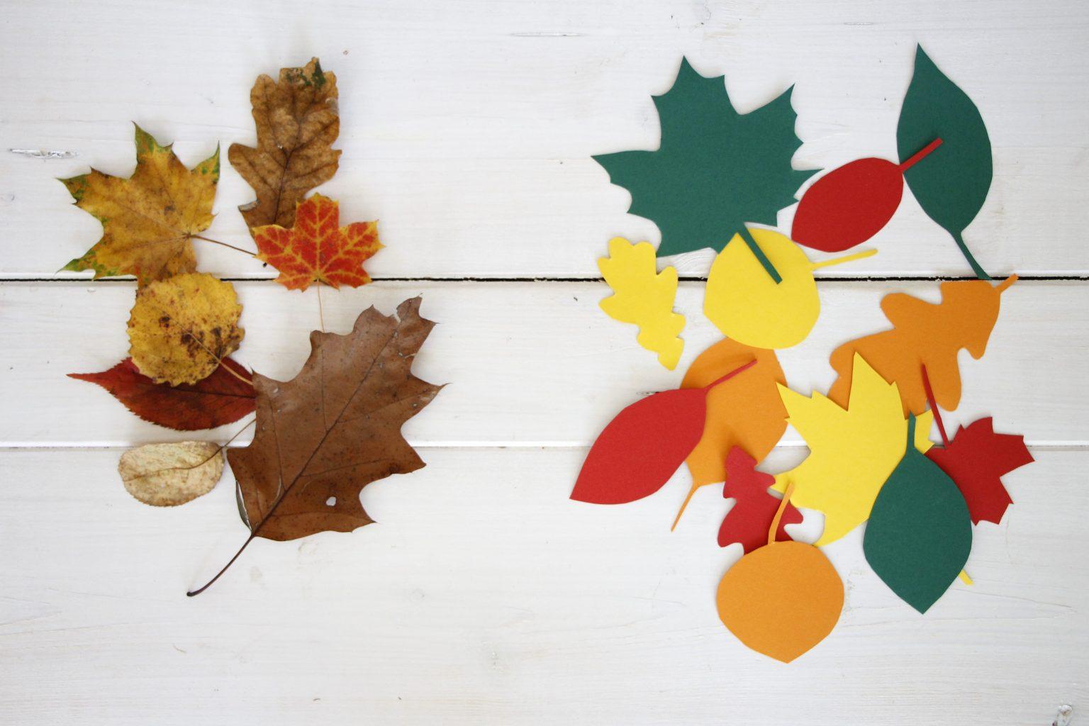 Herbstdeko basteln dekoast mit bl tter girlande lavendelblog - Herbst dekoration basteln ...