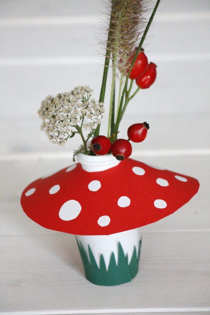 Blumenvase basteln Idee