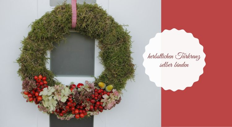 Herbst DIY Idee Türkranz selber binden