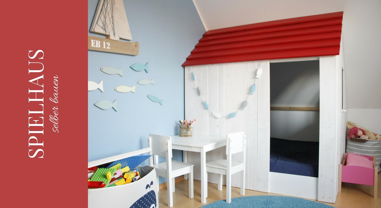Kinderzimmer Spielhaus selber bauen Anleitung