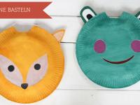 DIY: Frosch-Laterne und Fuchs-Laterne basteln aus Papptellern