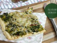 Rezept: Porreekuchen mit Blätterteig