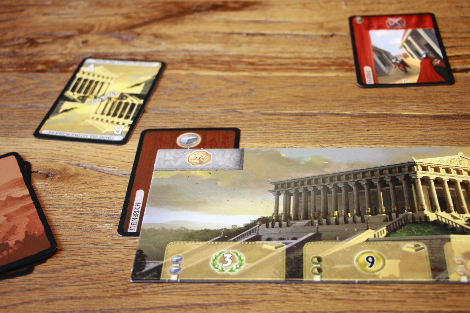 7 Wonders Asmodee Spielaufbau