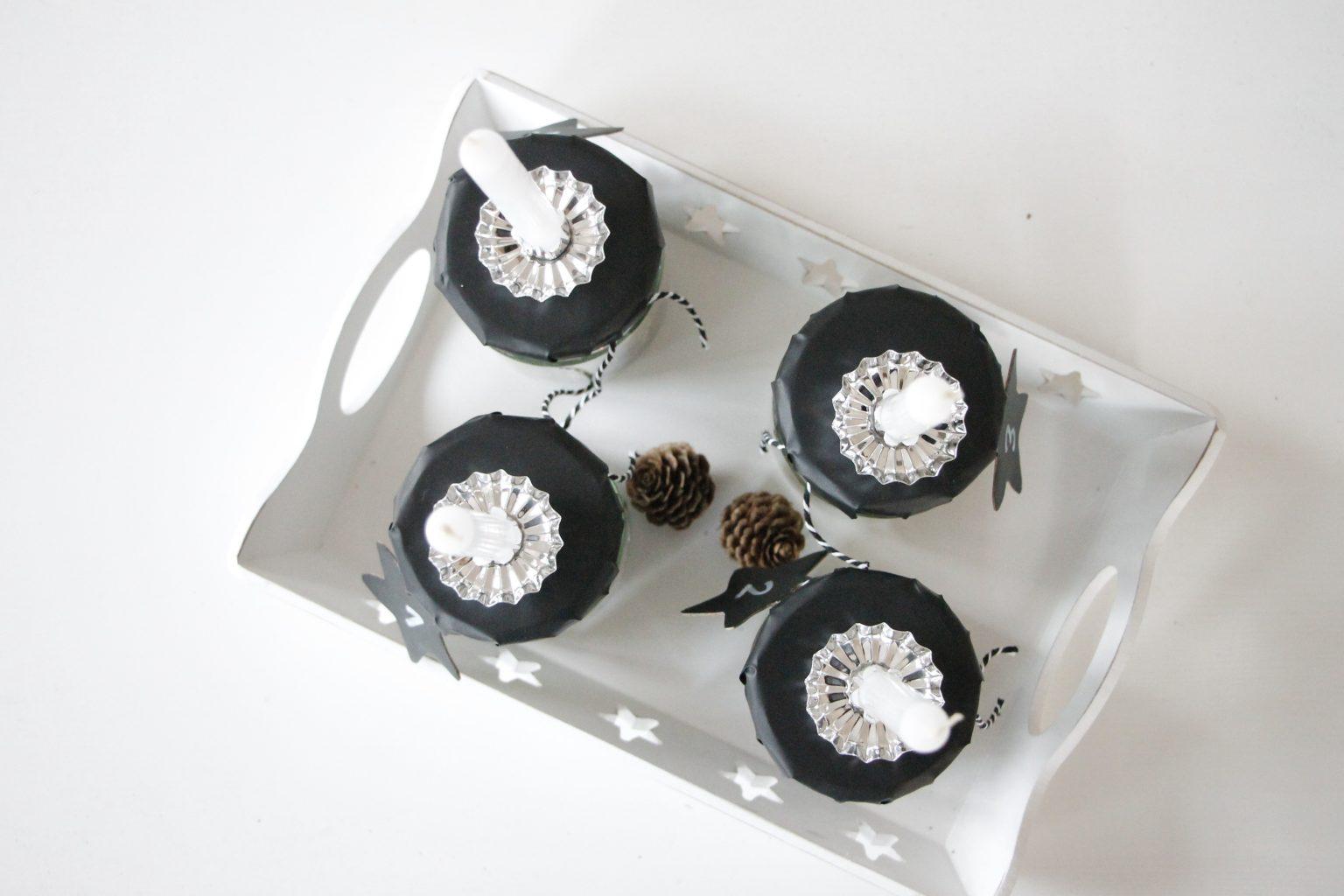 Adventskranz mit weißen Kerzen OTTO Shopping Festival