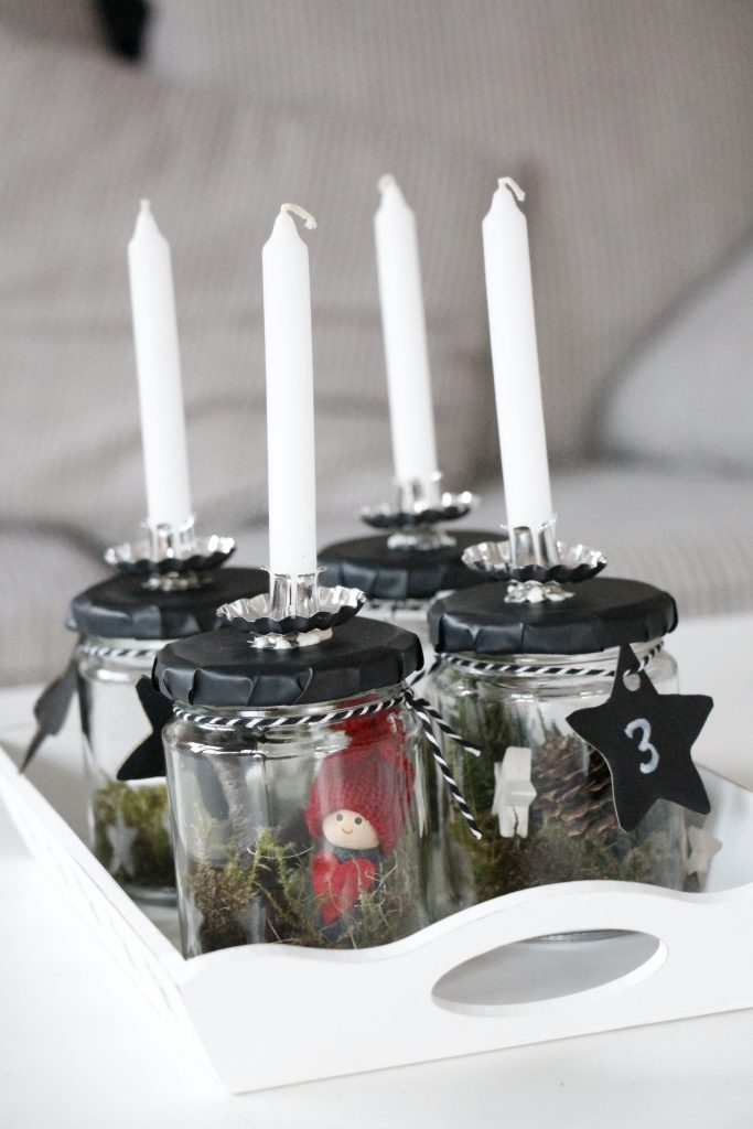 skandinavischer adventskranz im glas lavendelblog. Black Bedroom Furniture Sets. Home Design Ideas