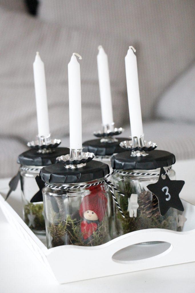 Skandinavischer adventskranz im glas lavendelblog - Weihnachtsdeko im glas selber machen ...