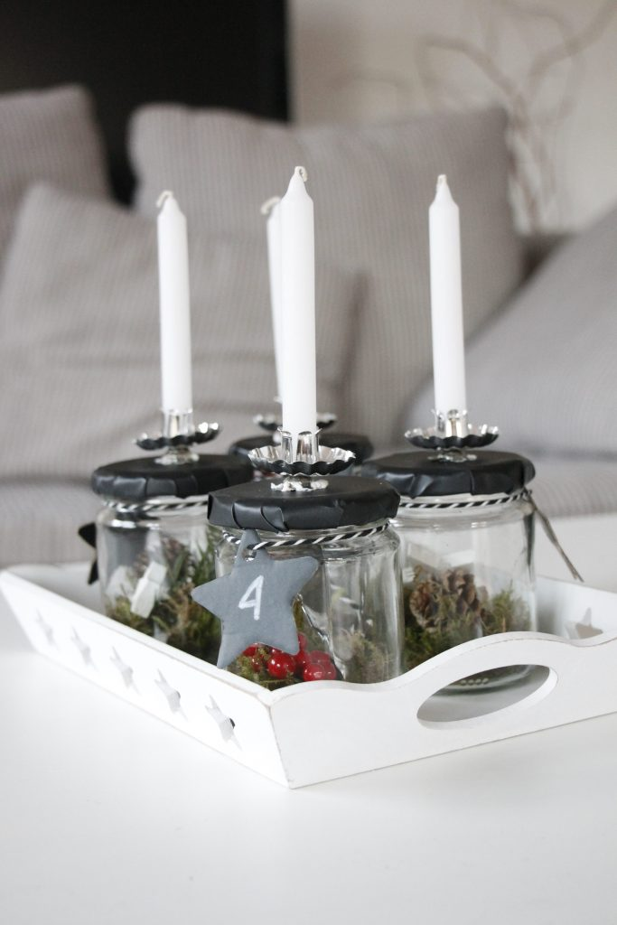 skandinavischer adventskranz im glas lavendelblog. Black Bedroom Furniture Sets. Home Design Ideas