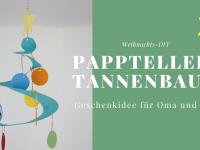 Bastelidee für Weihnachten: Pappteller-Tannenbaum