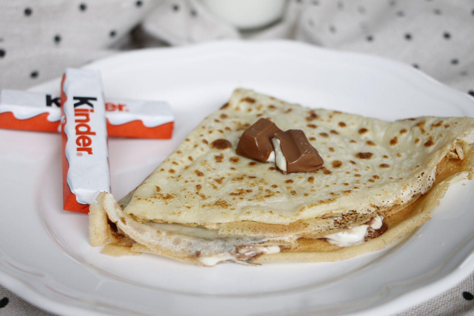 Kinderschokolade Rezept - Crêpes mit kinder Schokolade