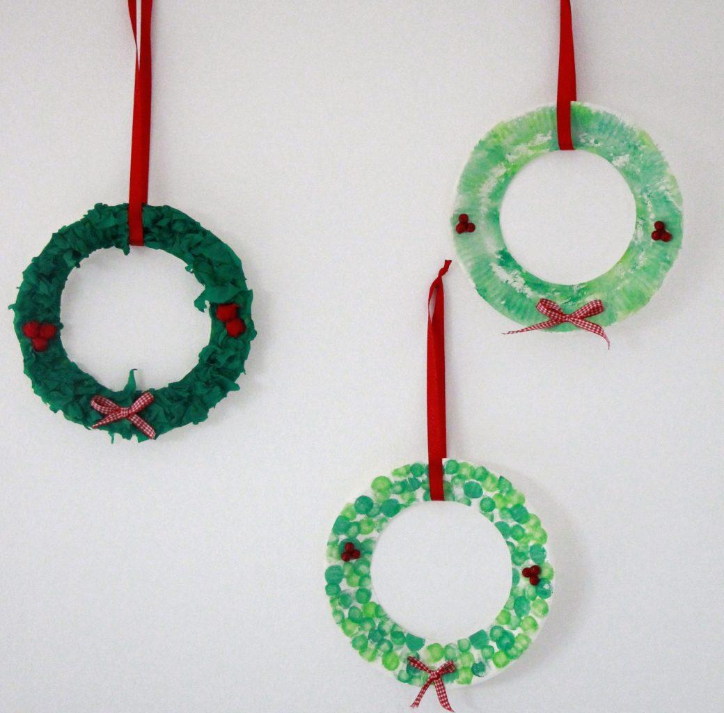 Kranz Pappteller Weihnachten