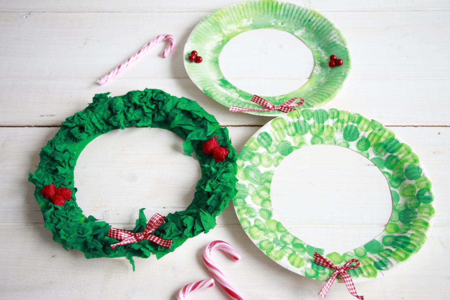 Pappteller Bastelidee Weihnachten