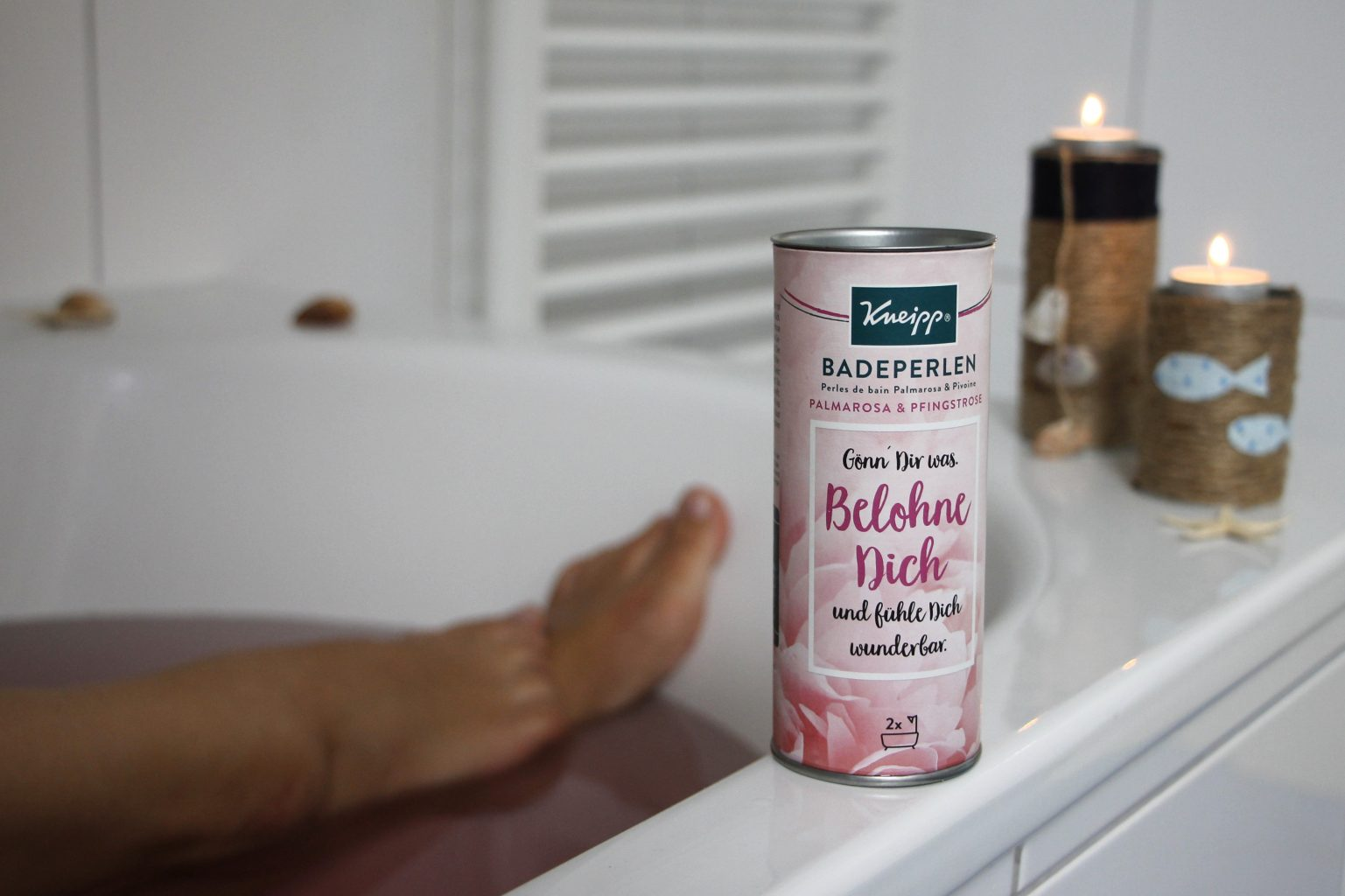 Teelichthalter Upcycling Kneipp