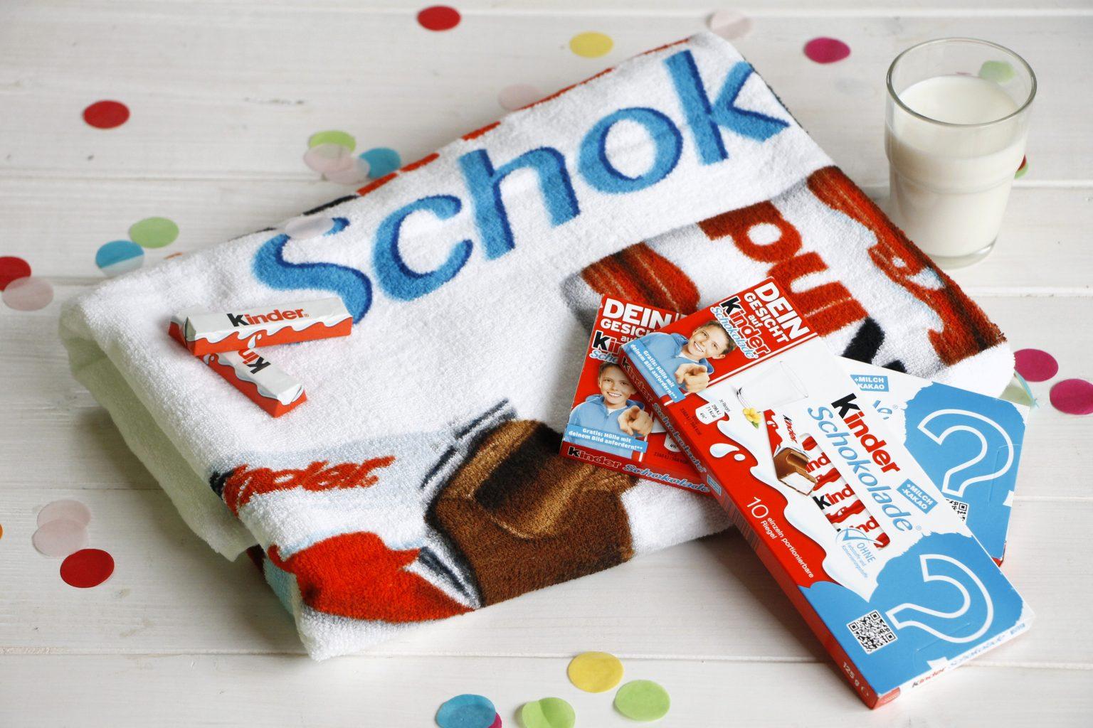 kinder Schokolade Gewinnspiel - kinder Schokolade Handtuch